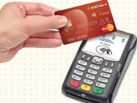 Contactless debit credit card