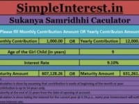 Sukanya Sarmriddhi Scheme Calculator