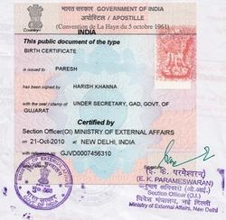 birth certificate for sukanya samriddhi account