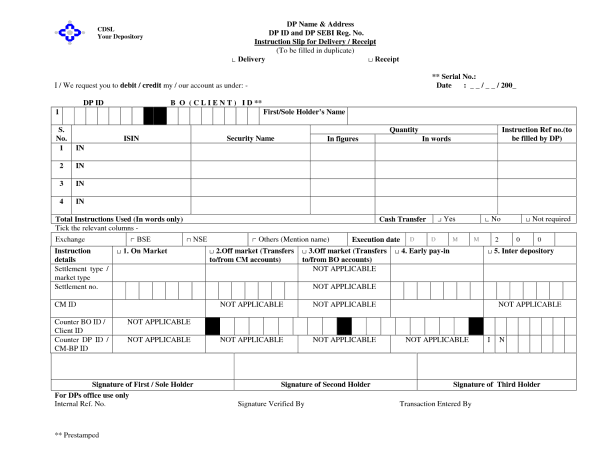 Gift or Transfer Shares in Demat Form
