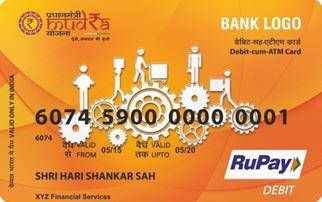 Mudra Yojana Rupay Debit Card