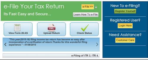 Income Tax Return Efiling Registration