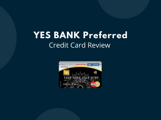 Yes Bank Preferred Credit Card Review