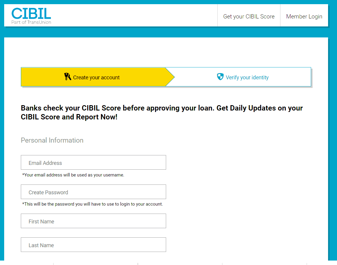 Check CIBIL Score Online