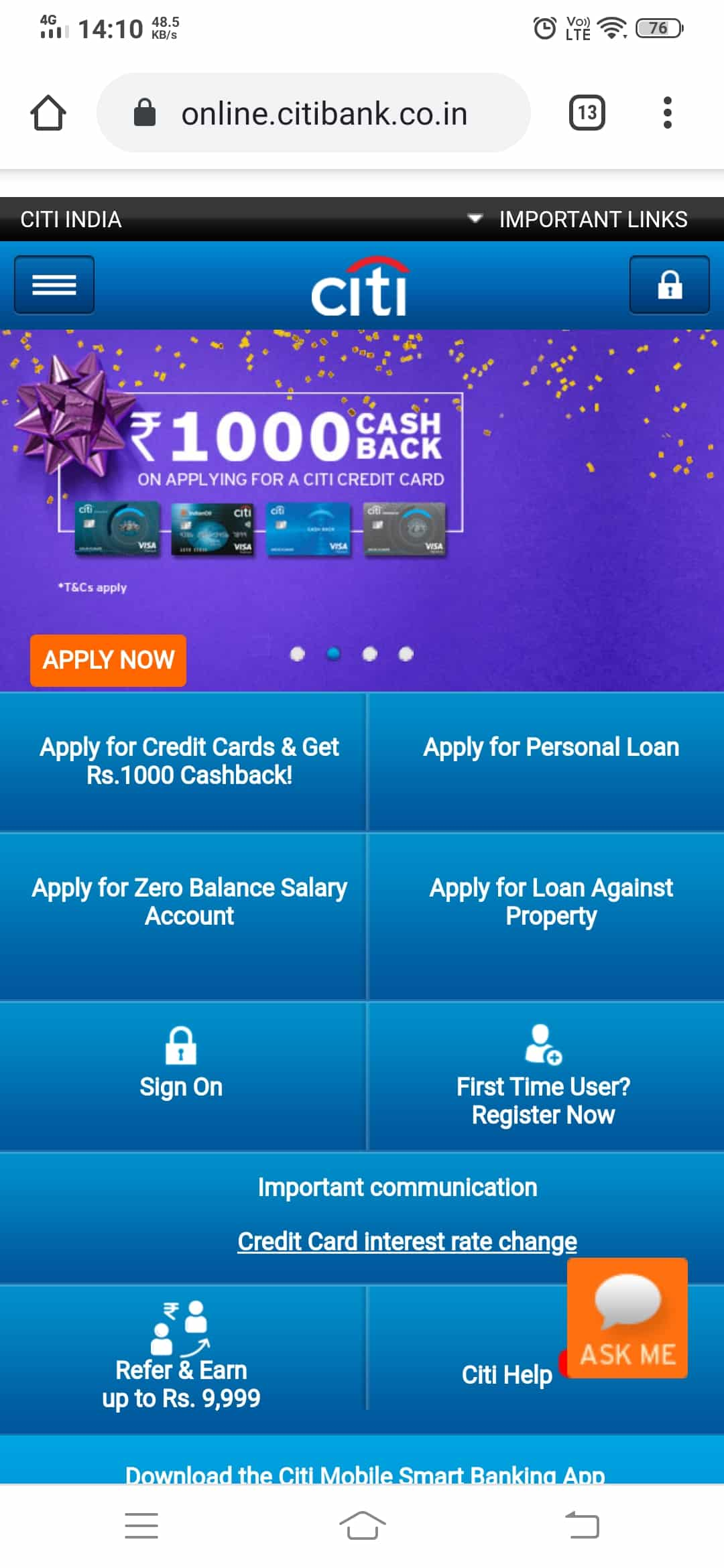 10 Easy Ways of CitiBank Credit Card Online Payment 2020