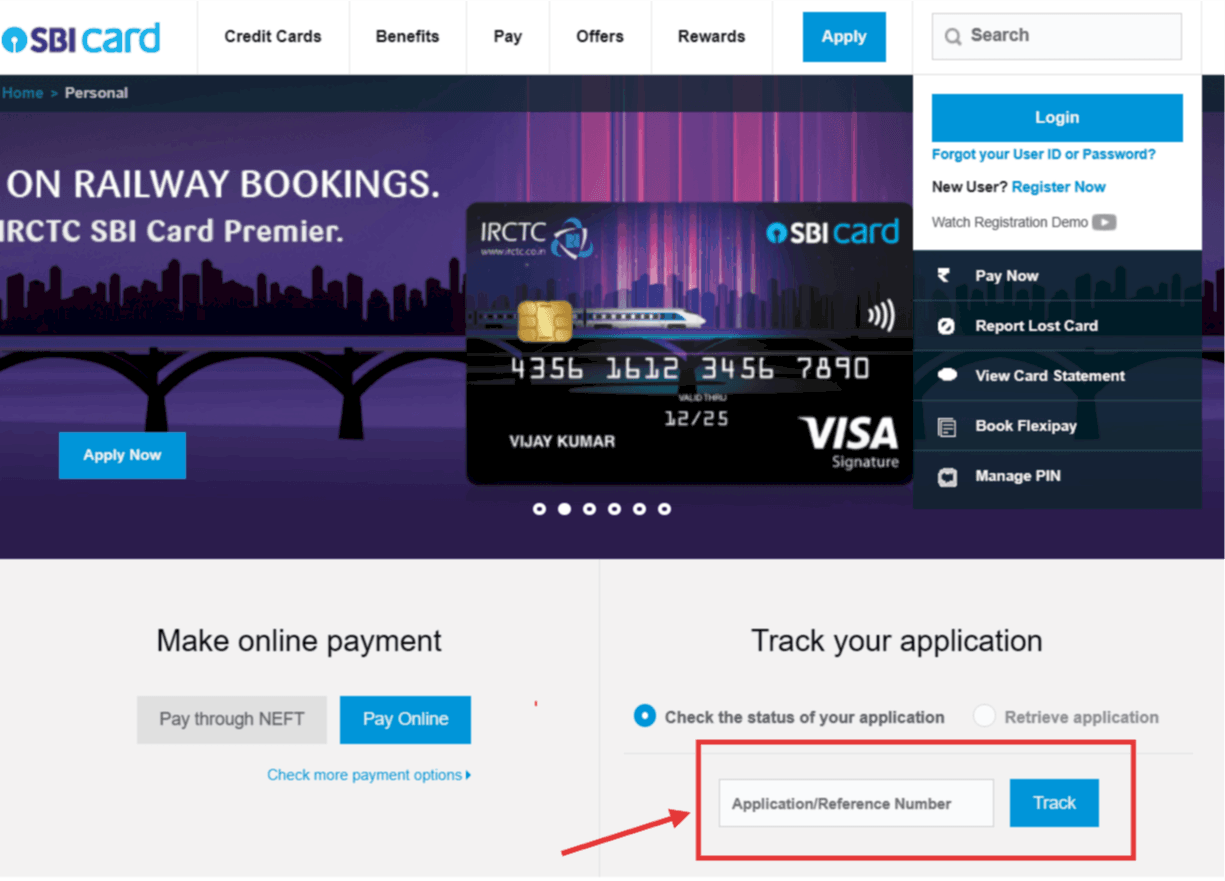 How to Check Credit Card Application Status: SBI