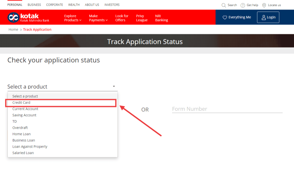 How to Check Credit Card Application Status: Kotak