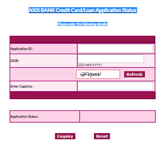 How to Check Credit Card Application Status: Axis