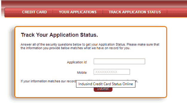 How to Check Credit Card Application Status: IndusInd