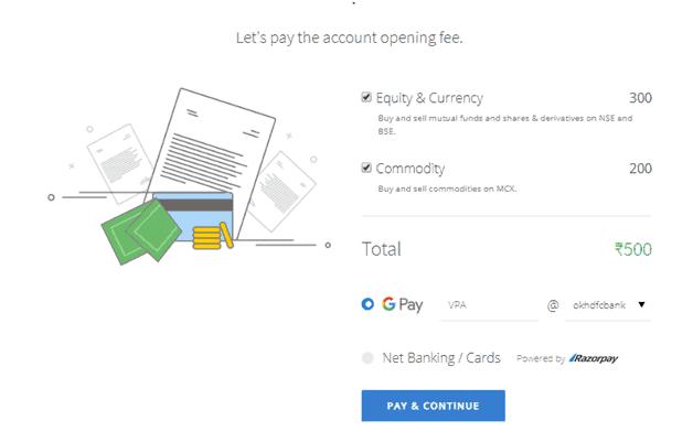 Zerodha payment details
