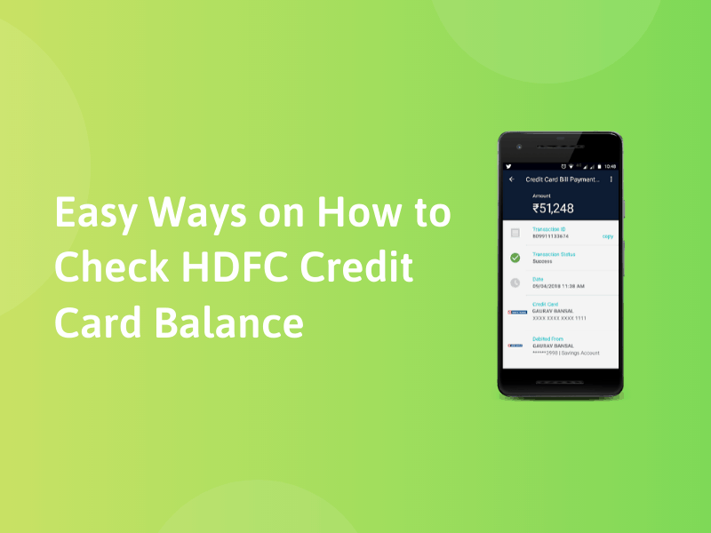Easy Ways on How to Check HDFC Credit Card Balance