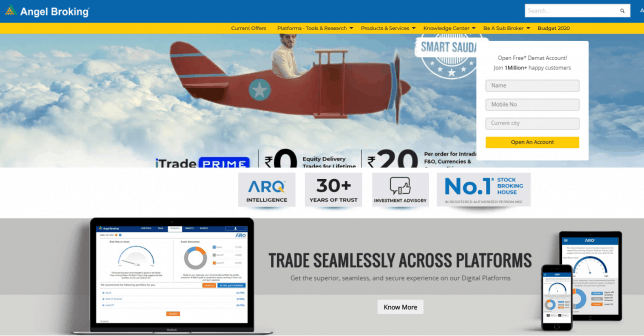 Angel Broking Demat & Trading Account Review