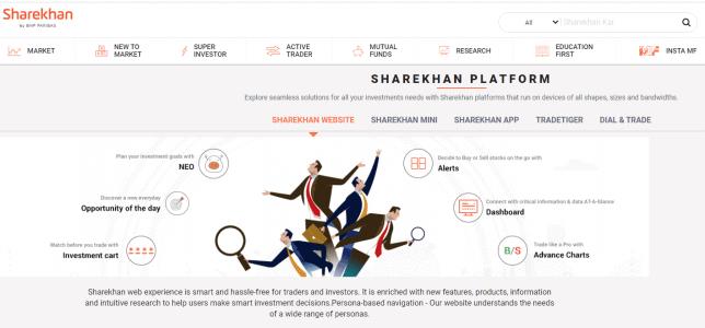 sharekhan website