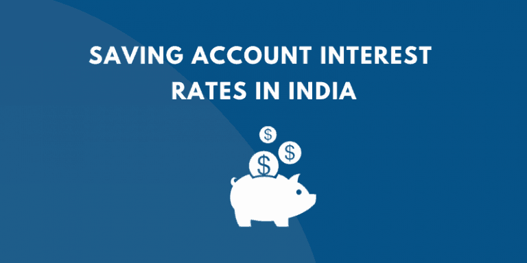 SAVING ACCOUNT INTEREST RATE INDIA