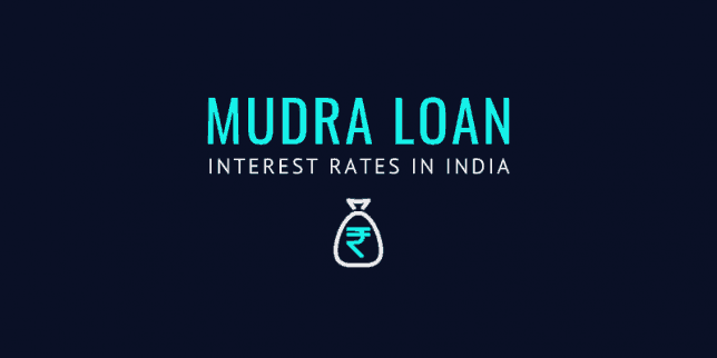 mudra loan interest rates