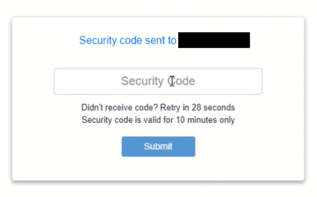 enter security code on upstox