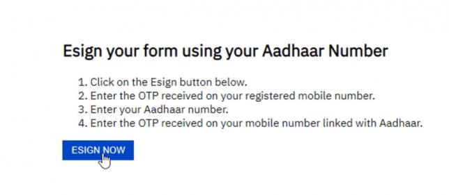 esign aadhar with otp on upstox