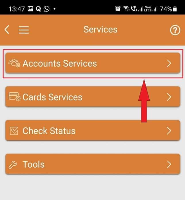 imobile account services