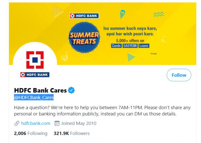 HDFC Bank Cares