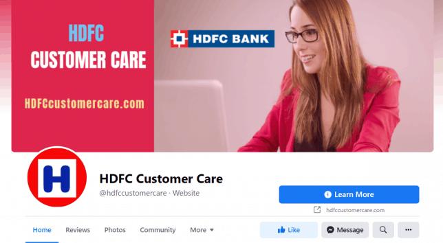 HDFC Customer Care Facebook