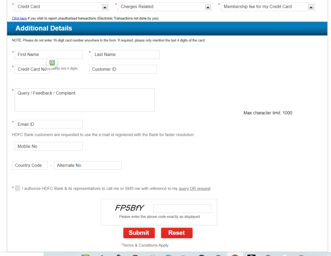 HDFC email us addtional details