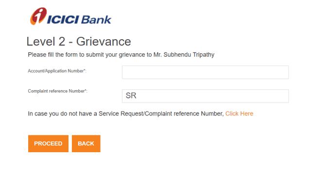 ICICI Level 2 complaint
