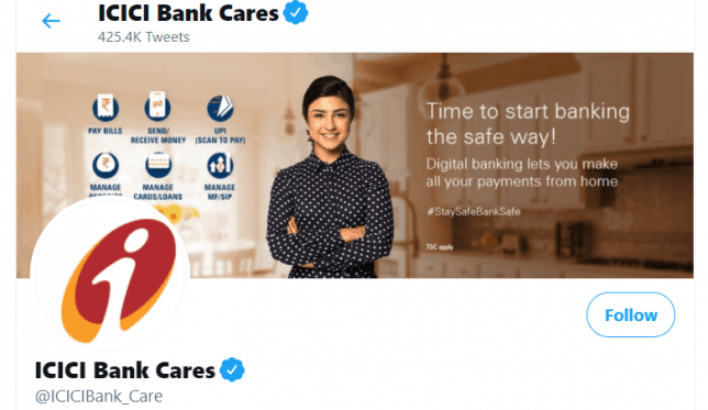 ICICI bank cares