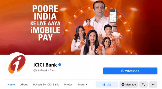 ICICI bank fb