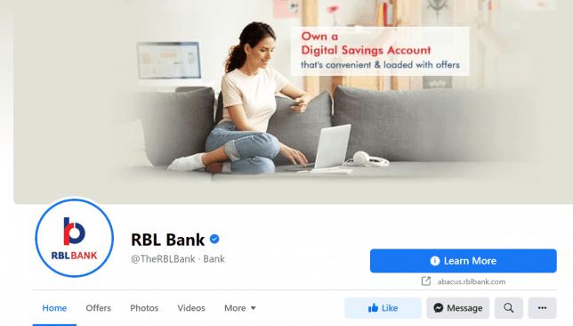 RBL Bank Facebook