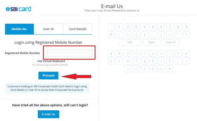 sbi email login
